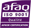 Logo certification AFAQ ISO 9001 site web